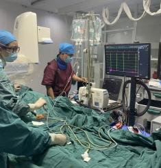【学党史 办实事】我院心内科完成心腔内超声指导下房颤射频消融一例